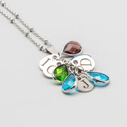 Custom Birthstone Drop Necklace