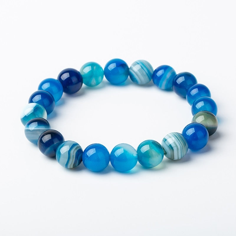 Meajoe Natural Stone Love Bead Bracelet