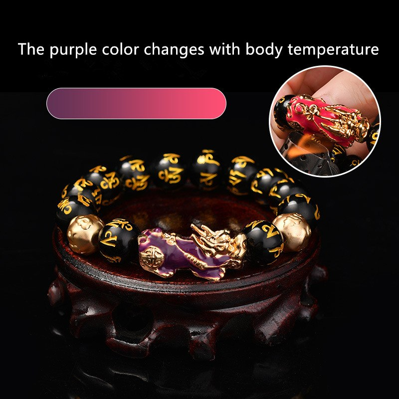 Discoloration Brave Energy Troops Stone Beads Bracelet