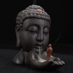 Ceramic Buddha Incense Burner - HealthZen.co