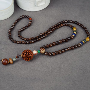 Sennier Ethnic Rudraksha Necklaces