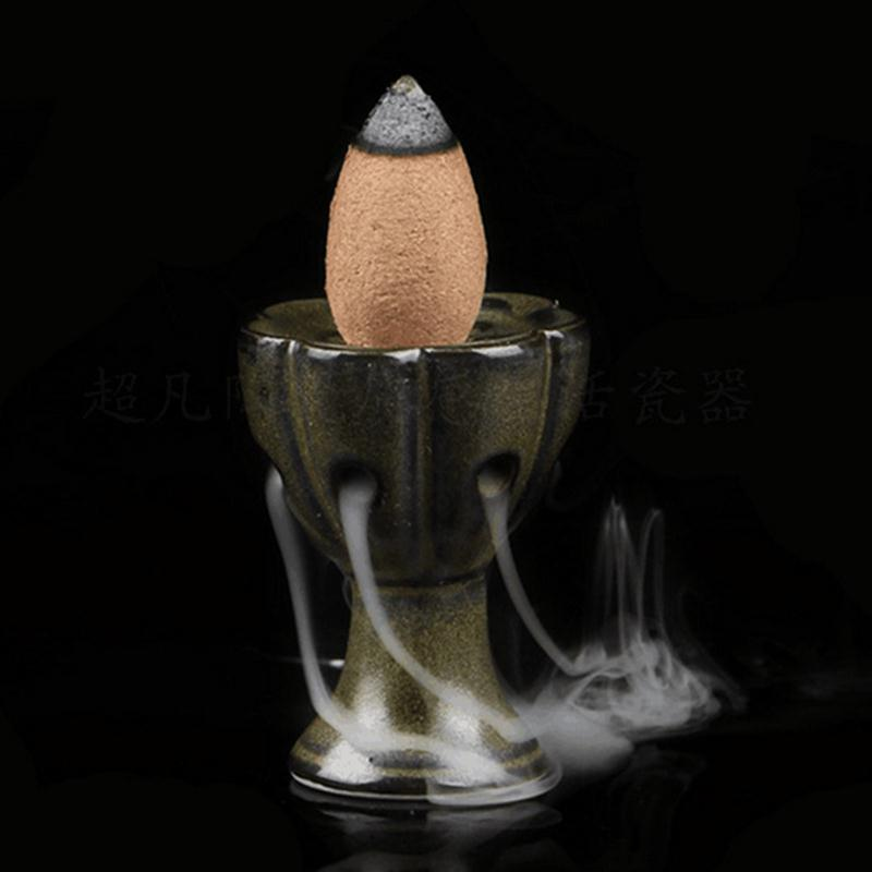 Mini Lotus Ceramic Glaze Incense Burner