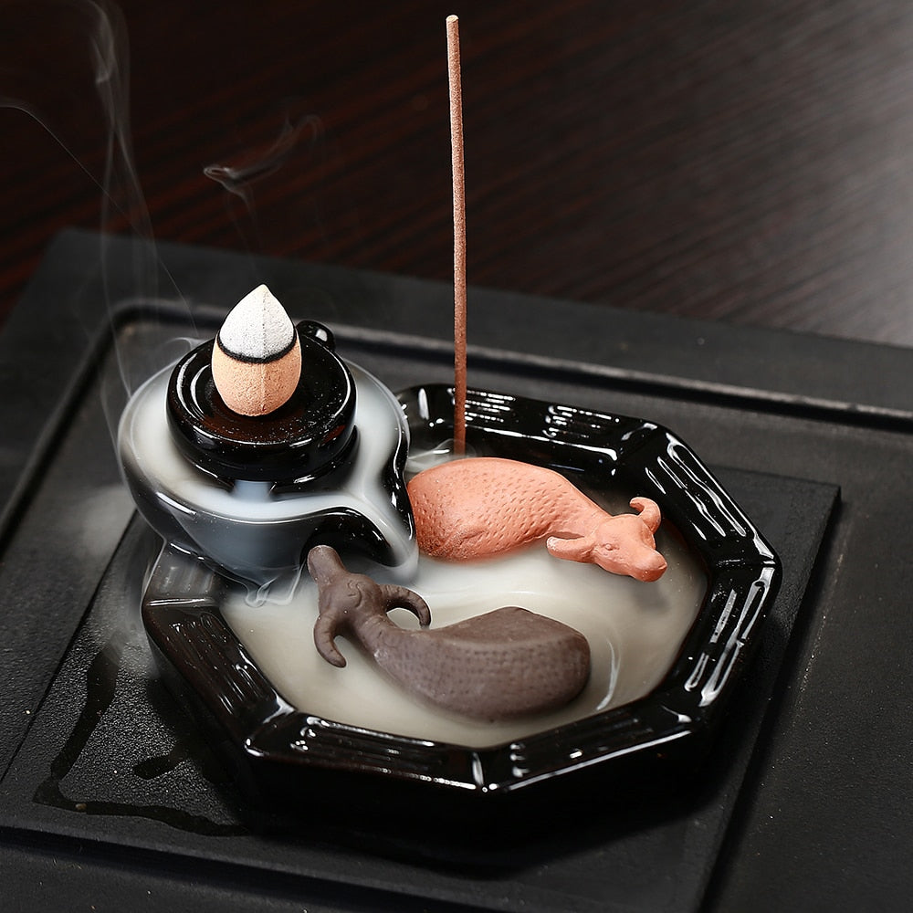 Taiji bulls incense burner