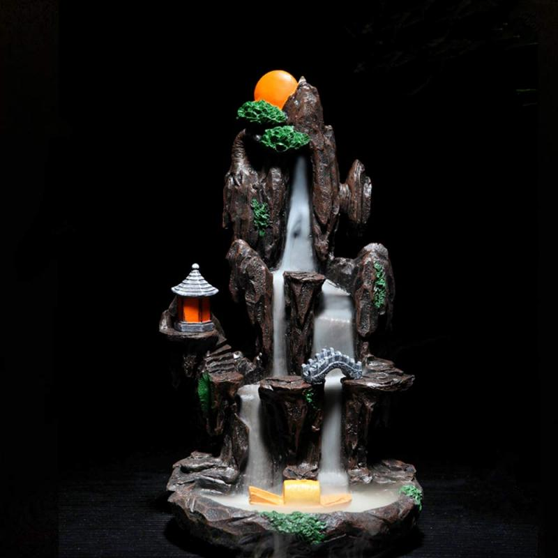 Large  Premium Mountain Shape Waterfall Backflow Incense