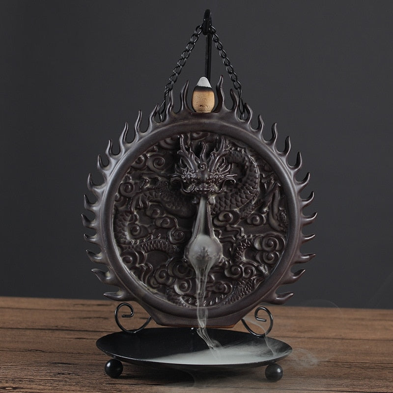 Hanging Dragon Backflow Incense Burner