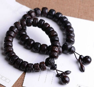 Natural lightning strike wood beads bracelet