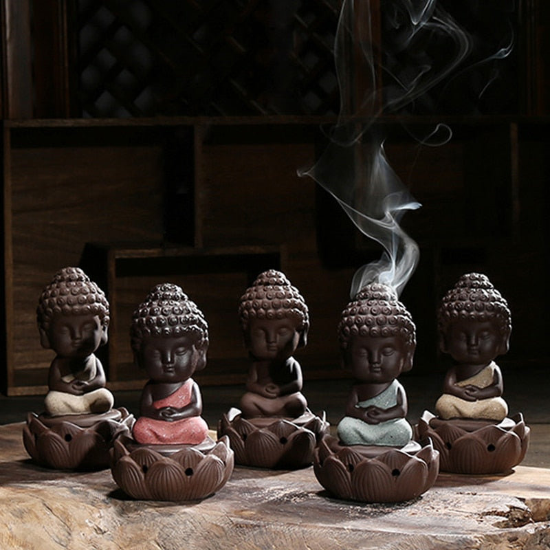 Meditating Buddhas Incense Holder
