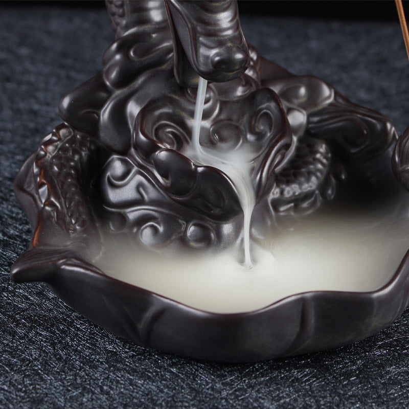 Ceramic Dragon Backflow Incense Burner - HealthZen.co