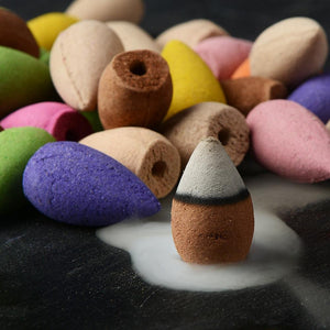 80Pcs Colored Smoke Backflow Incense Cones - HealthZen.co