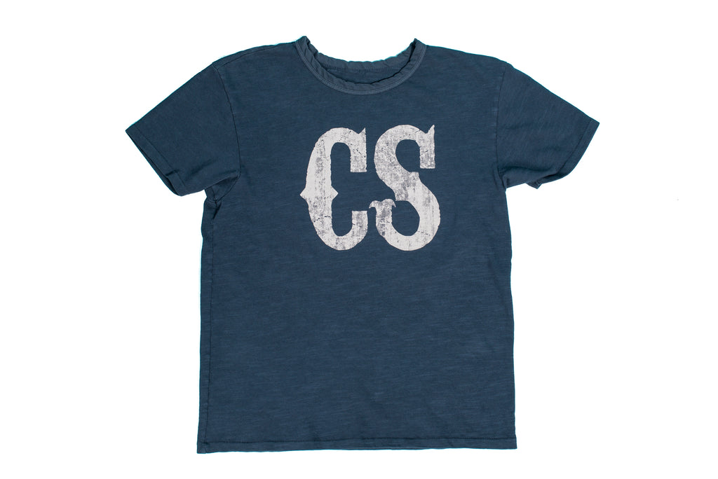 CS Logo T-Shirt Vintage Blue