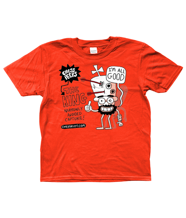 Kids Tee - Chess Peeps/King2