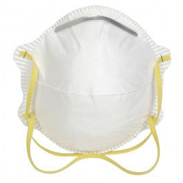 Disposable Respirator Masks, NIOSH approved cup style Face Mask Respirators. For use in dusty situations and emergencies such as volcanic eruptions, earthquakes and fires. Also recommended for use against pandemic (airborne virus such as bird flu, and SARS).