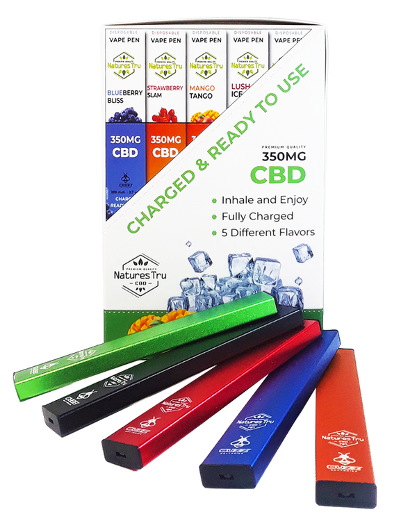 1.4mL Disposable Pod Device with 350mg CBD Isolate Formula