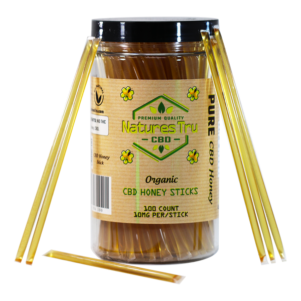Honey Sticks CBD Snacks - 10mg Pure CBD Isolate per Stick