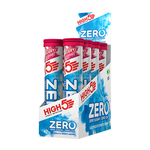High 5 Zero Electrolyte Drink Tablets (Box - 8 tubes) Flavour: Berry