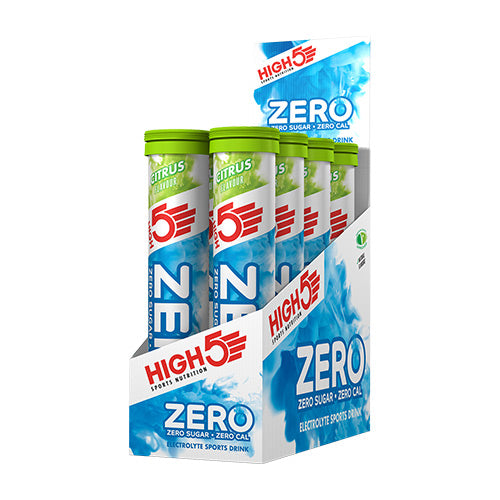 High 5 Zero Electrolyte Drink Tablets (Box - 8 tubes) Flavour: Citrus