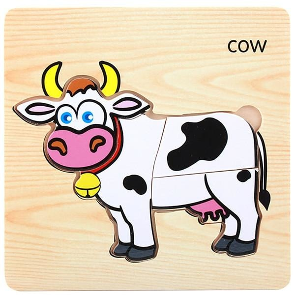 Animal Training Puzzle - Cow