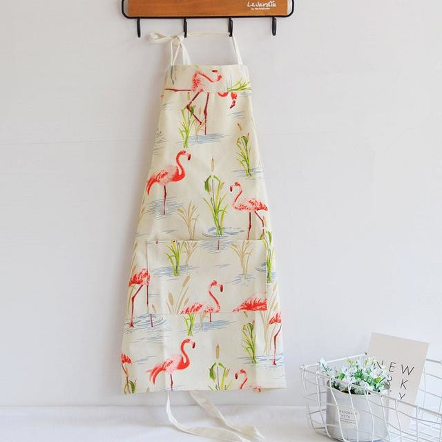 Apron for Adults & Kids - Flamingo / S