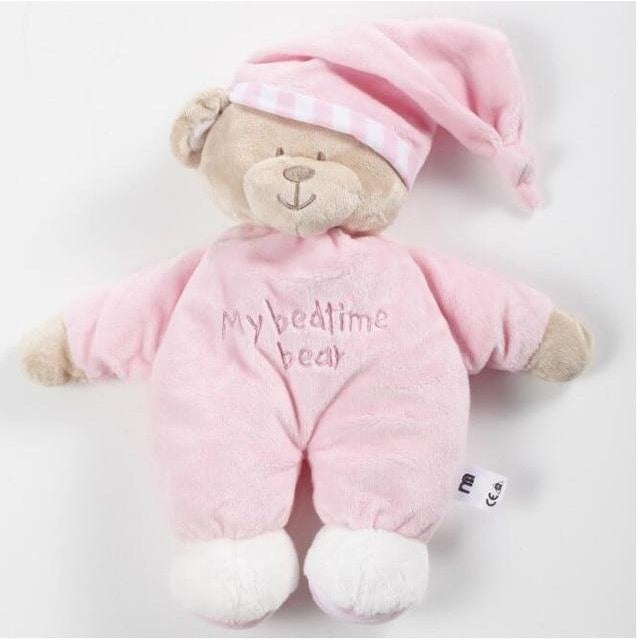 Bedtime Teddy Bear Cuddly Toy - Pink