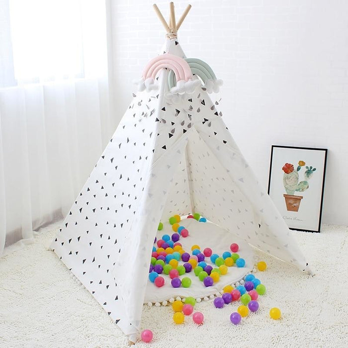 Black Triangles Teepee Tent