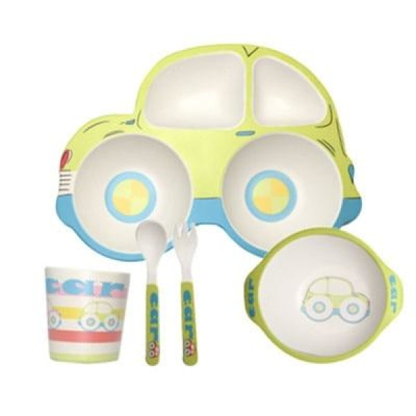 Car Baby Feeding Set - Green