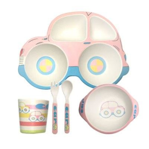 Car Baby Feeding Set - Pink