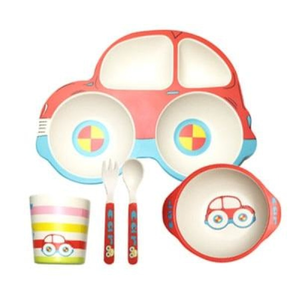 Car Baby Feeding Set - Red