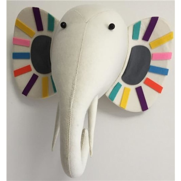 Colorful Elephant Head Wall Decoration