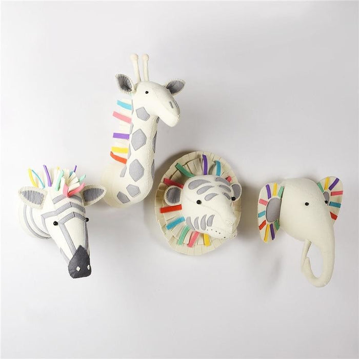 Colourful Zebra Head Wall Decoration