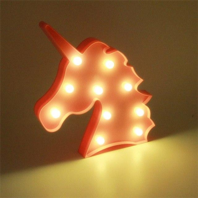 Decorative LED Lamps - Unicorn Head Pink / China