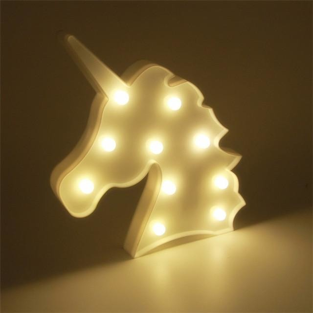 Decorative LED Lamps - Unicorn Head White / China
