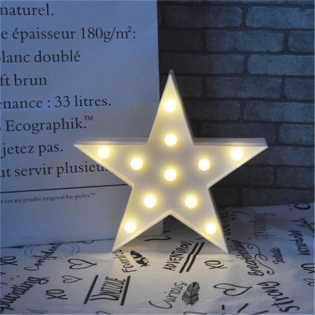 Decorative LED Lamps - White Star / China