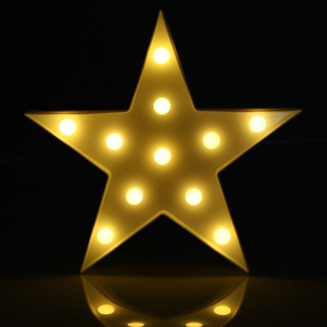 Decorative LED Lamps - Yellow Star / China