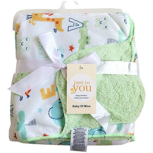 Double Layer Baby Blanket - Animals