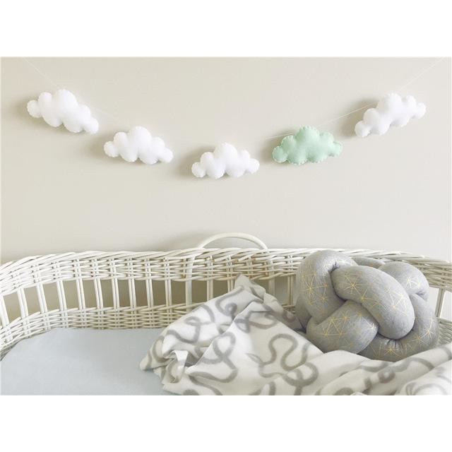 Felt Cloud Garland - White 4 Mint 1