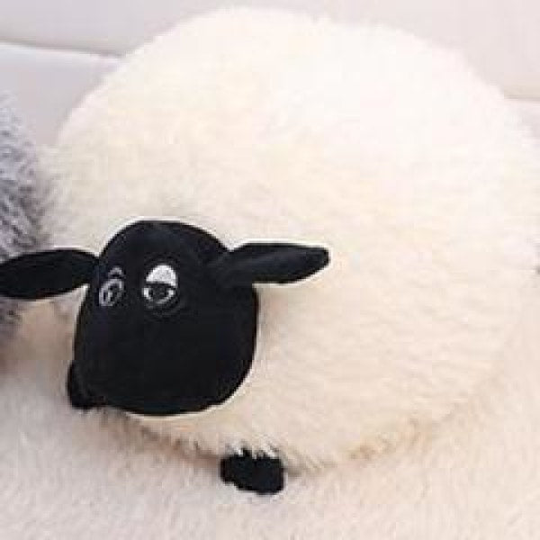 Funny Cute Sheep Pillow - 20cm / White