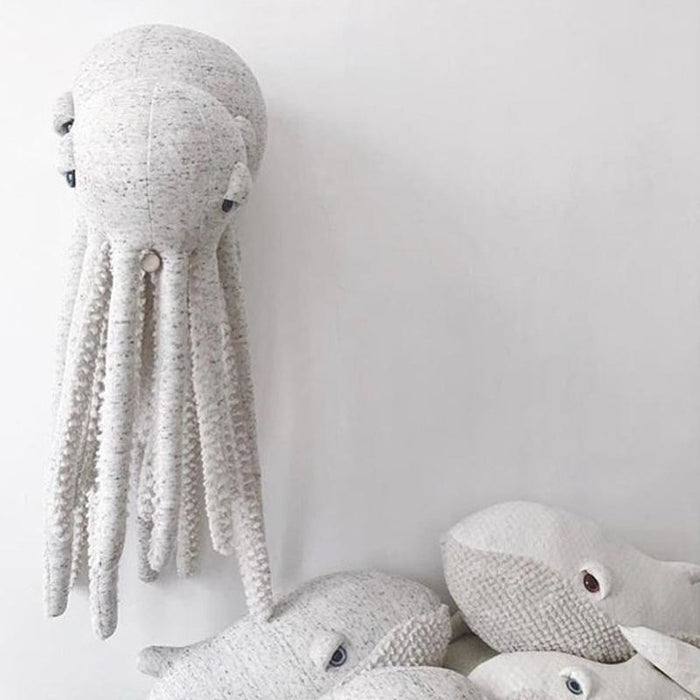 Giant Octopus & Whale Stuffed Toys