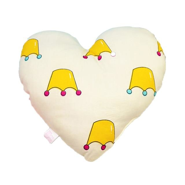 Heart Shaped Baby Pillow - Crown