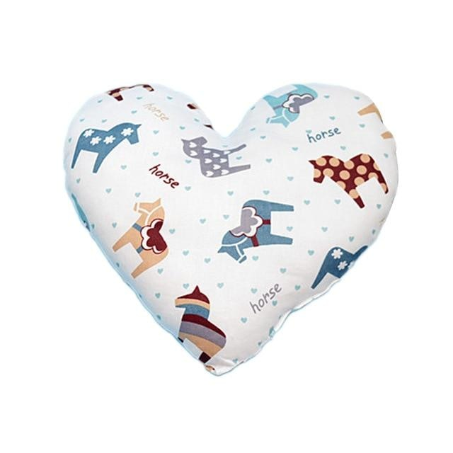 Heart Shaped Baby Pillow - donkey