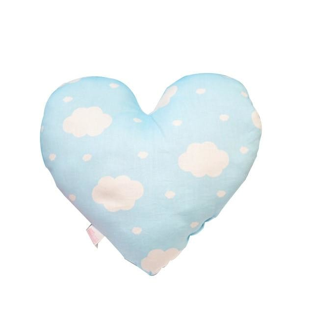 Heart Shaped Baby Pillow - Light Blue