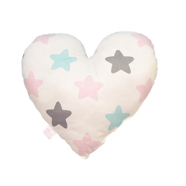 Heart Shaped Baby Pillow - Stars