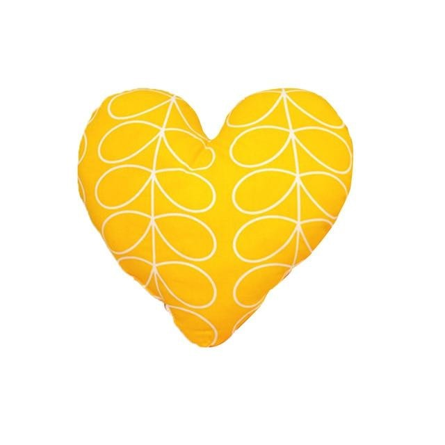 Heart Shaped Baby Pillow - Yellow