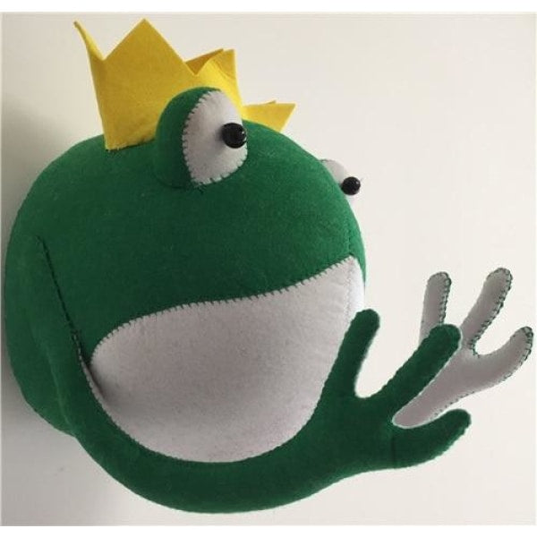 King Frog Head Wall Decoration
