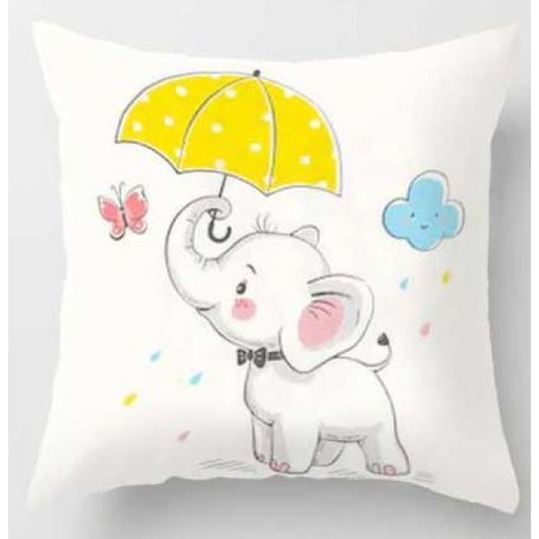 Lovely Animals Pillow Case - A / 45x45cm Just Cover