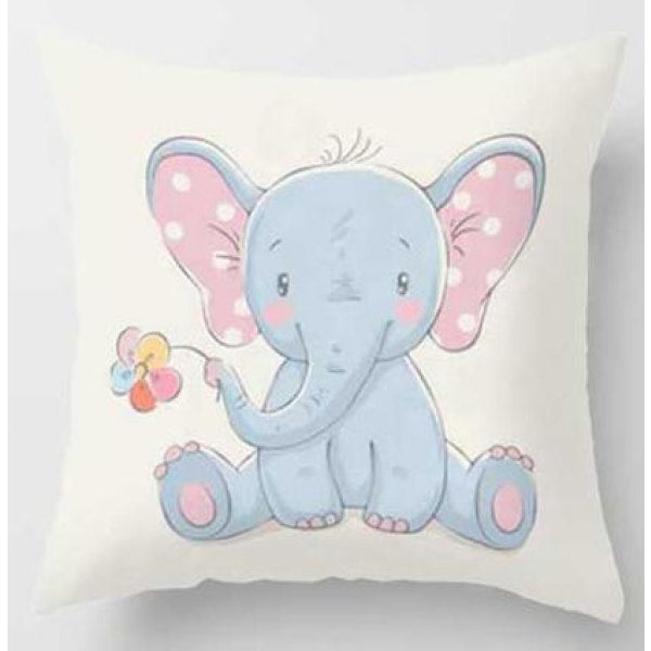 Lovely Animals Pillow Case - D / 45x45cm Just Cover