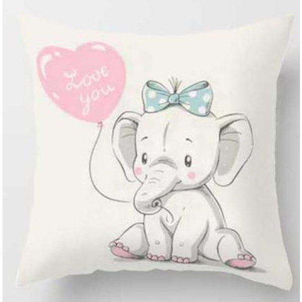 Lovely Animals Pillow Case - E / 45x45cm Just Cover