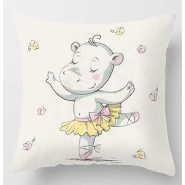 Lovely Animals Pillow Case - G / 45x45cm Just Cover