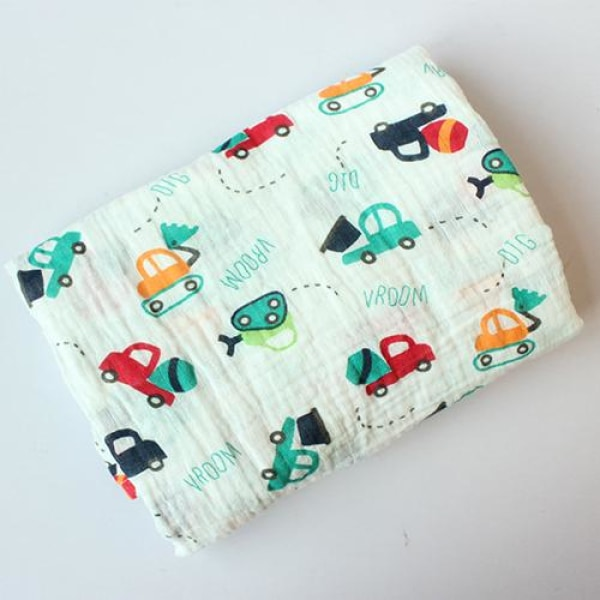 Multifunction Cotton Baby Muslin - Cars