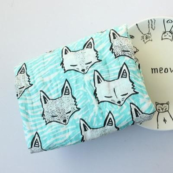 Multifunction Cotton Baby Muslin - Foxes