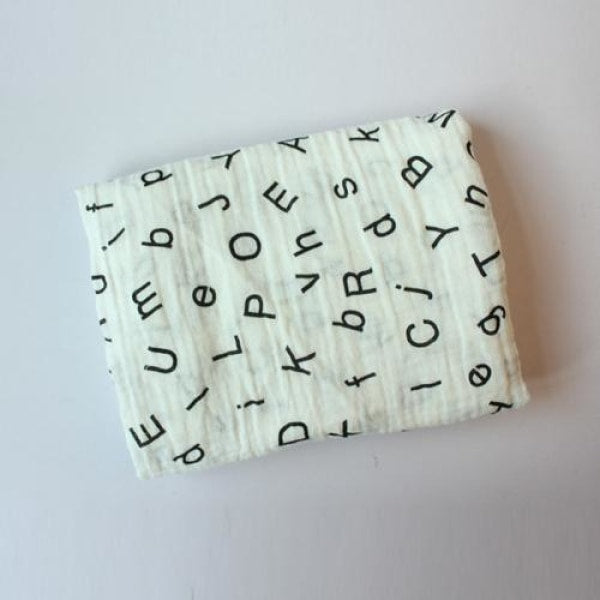Multifunction Cotton Baby Muslin - Letters
